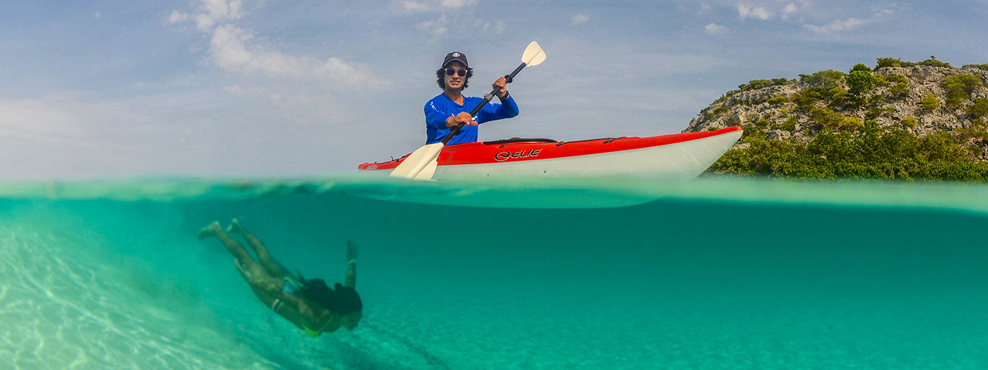 Kayaking And Swimming At East Bay Resort South Caicos, Turks And Caicos