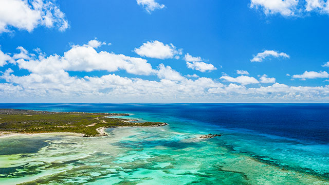South Caicos Blue Ocean And Sky
