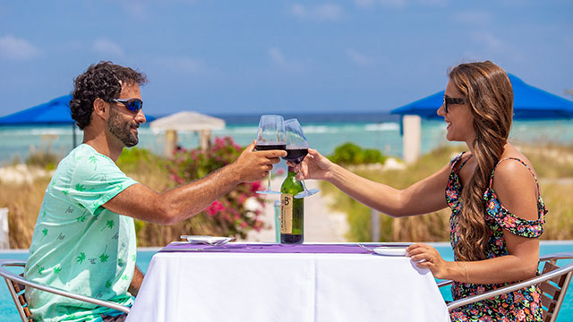 Outdoor Dining At BLU Bar And Grill East Bay Resort South Caicos, Turks And Caicos