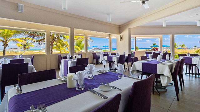 Scenic Dining At At BLU Bar And Grill East Bay Resort South Caicos, Turks And Caicos