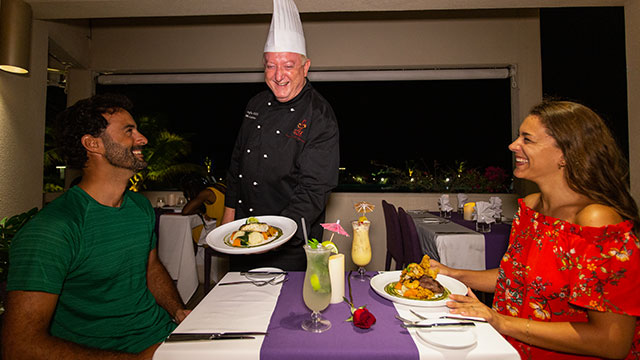 Chef At The Table At BLU Bar And Grill At East Bay Resort South Caicos, Turks And Caicos