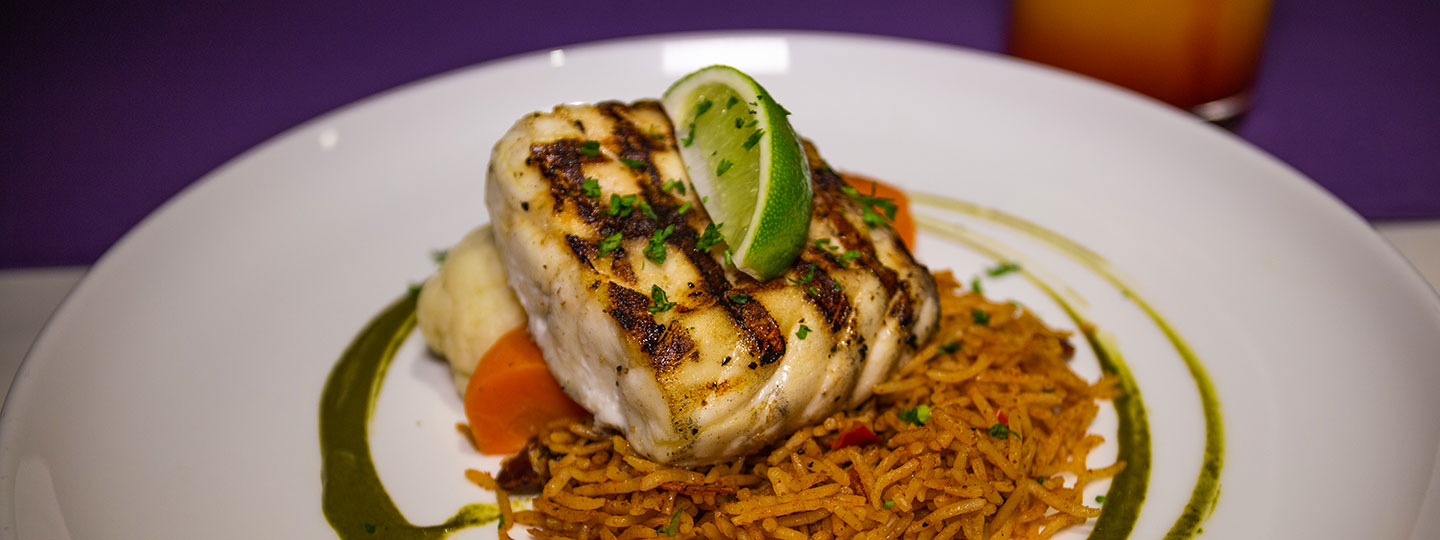 Fresh Grilled Fish At BLU Bar And Grill At East Bay Resort South Caicos, Turks And Caicos