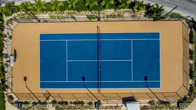 Tennis Courts At East Bay Resort South Caicos, Turks And Caicos