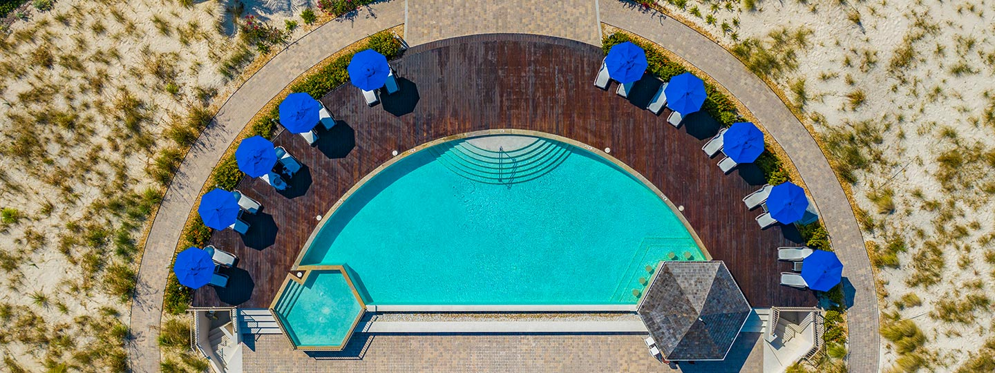 Bird's Eye View Of The Pool At East Bay Resort Pool South Caicos, Turks And Caicos