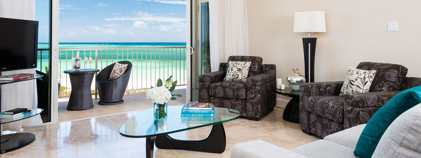 One Bedroom Deluxe Beachfront Suite Living Room Area At East Bay Resort South Caicos, Turks And Caicos