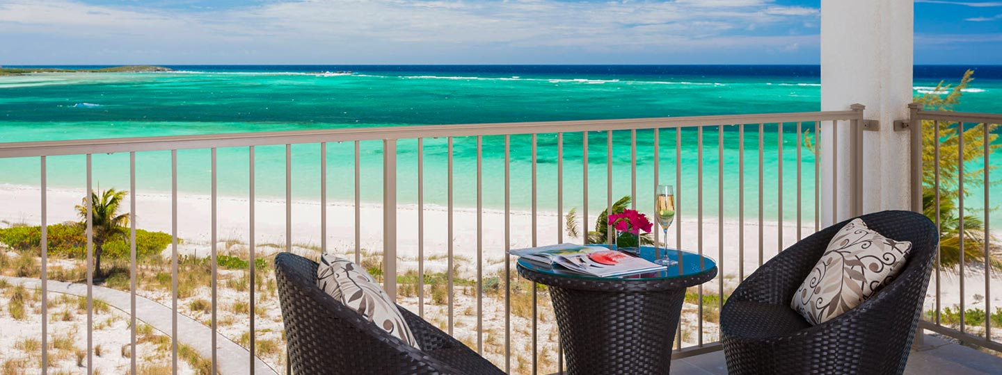 Two Corner Beachfront Suite Balcony At East Bay Resort South Caicos, Turks And Caicos