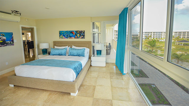 Bedroom In One Bedroom Deluxe Beachfront Suite At East Bay Resort South Caicos, Turks And Caicos