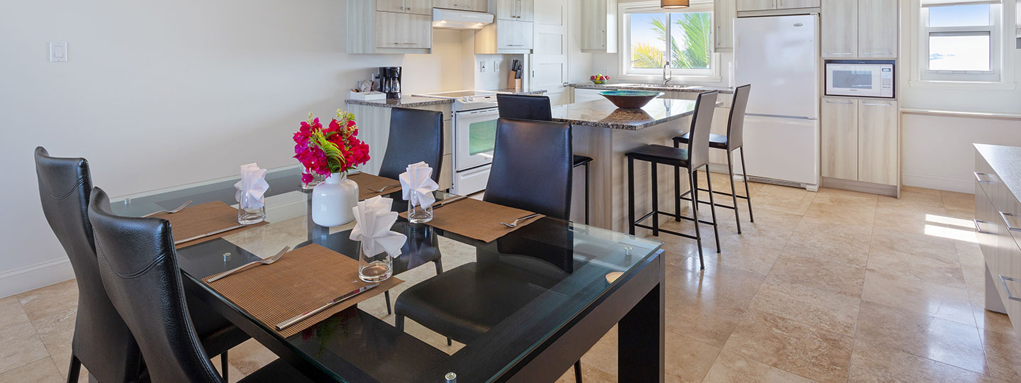 2 Bedroom Corner Suite Kitchen at East Bay Resort South Caicos, Turks And Caicos