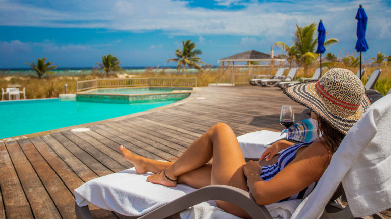 Lounging By The Pool At East Bay Resort South Caicos, Turks and Caicos