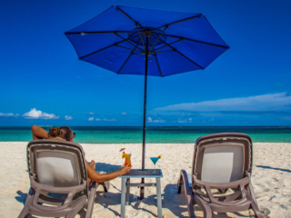 Enjoying Cocktails On East Bay Beach – East Bay Resort – South Caicos Island