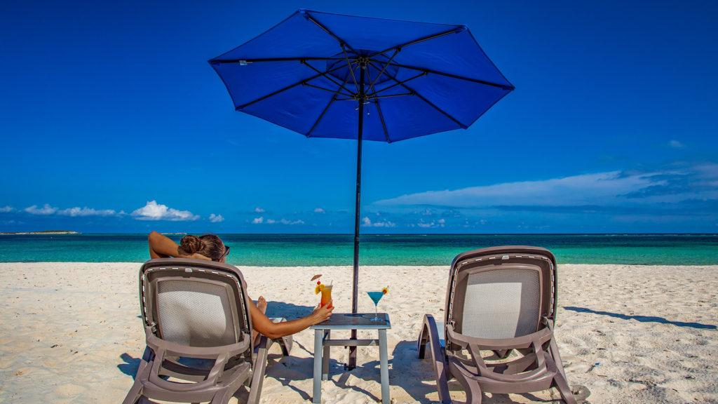 Enjoying Cocktails On East Bay Beach – East Bay Resort – South Caicos Island