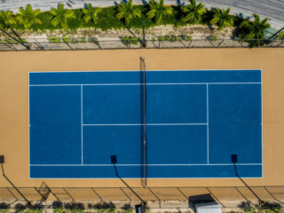 Tennis Courts At East Bay Resort South Caicos Island