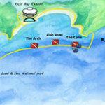 South Caicos Diving Map