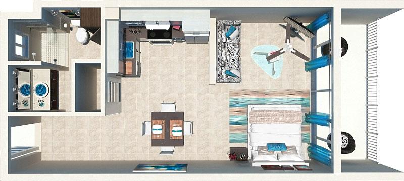 Beachfront Suite Floor Plan