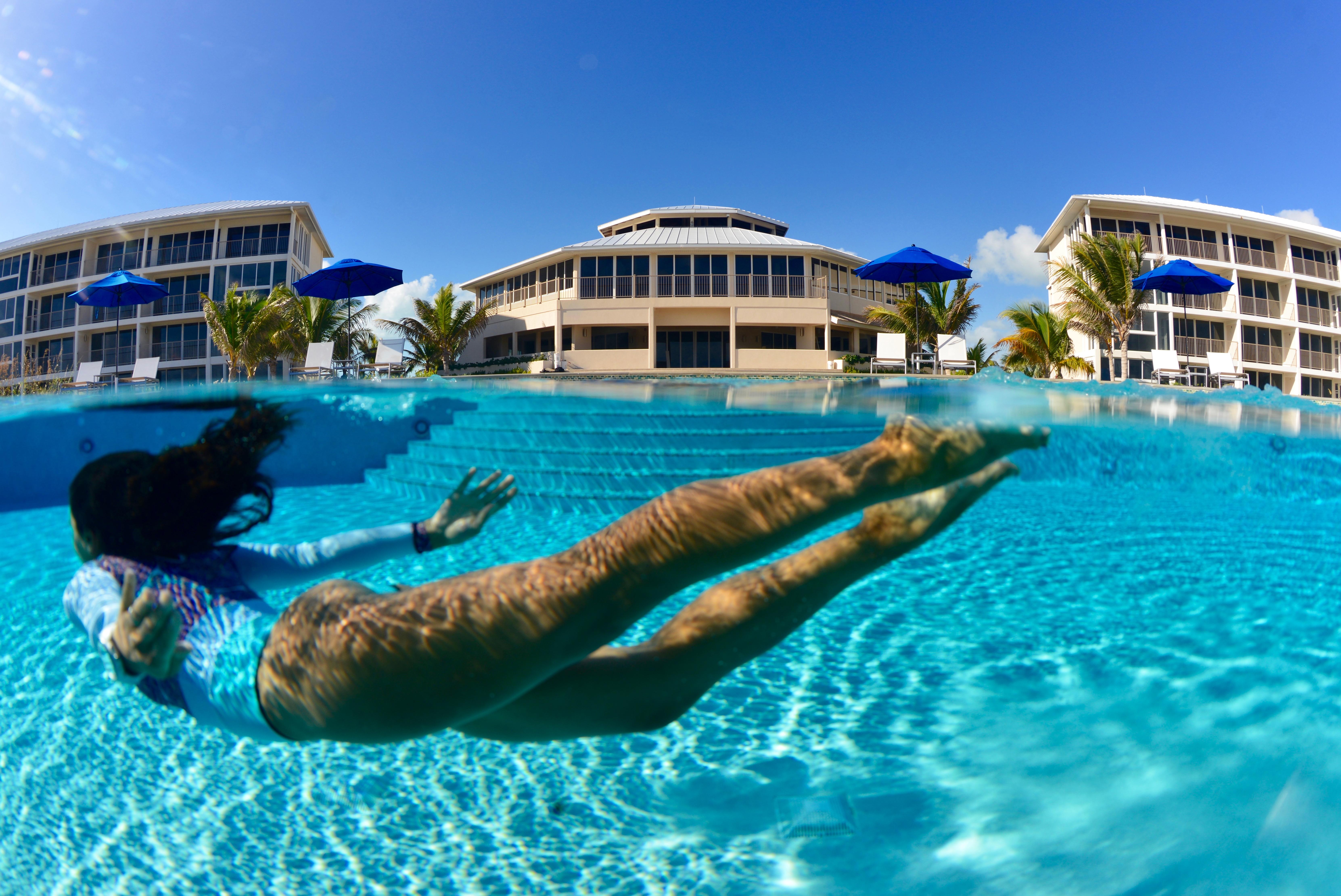 Swimming at the Pool at East Bay Resort South Caicos