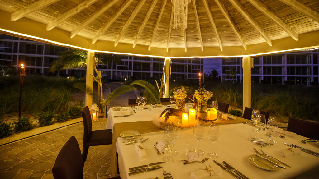 A Romantic Outdoor Wedding Reception Is Prepared At East Bay Resort