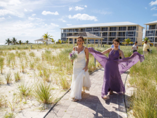 Walking to the Wedding Ceremony At East Bay Resort South Caicos