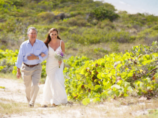The Bride Walks With Her Father - East Bay Resort South Caicos, Turks and Caicos
