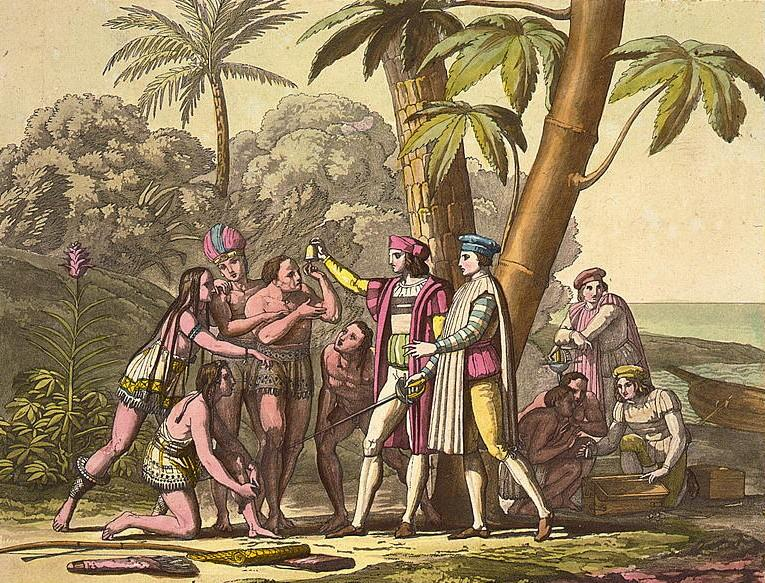Christopher Columbus Meets the Natives