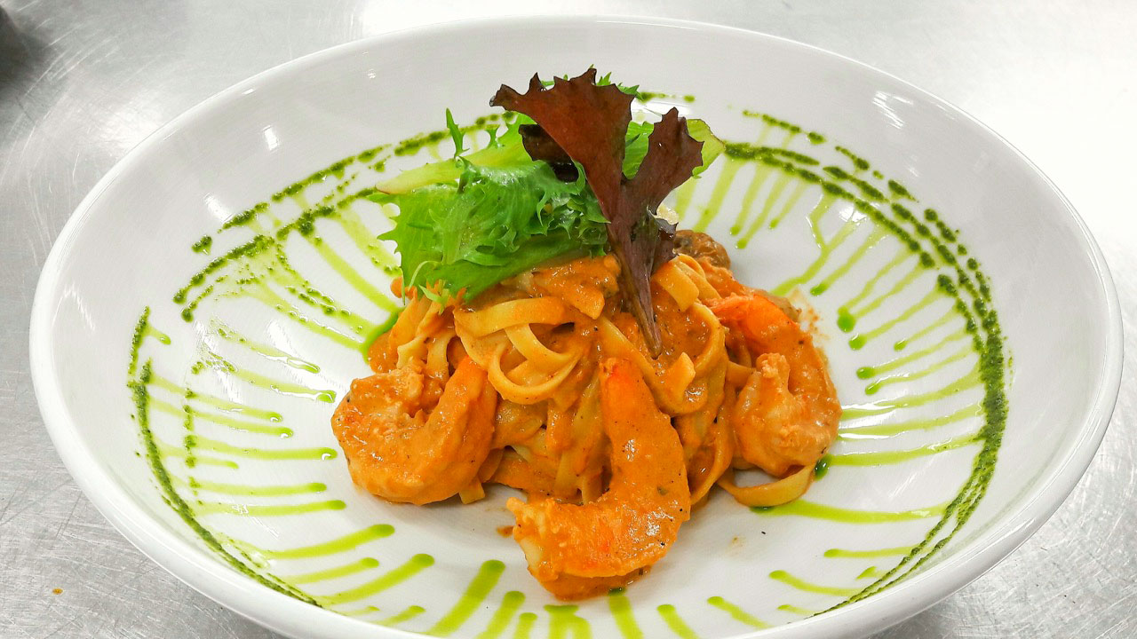 Fettucini Mare Monti at BLU Bar and Grill
