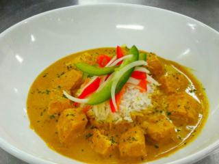 Red Thai Curry with local Mahi Mahi at BLU Bar and Grill