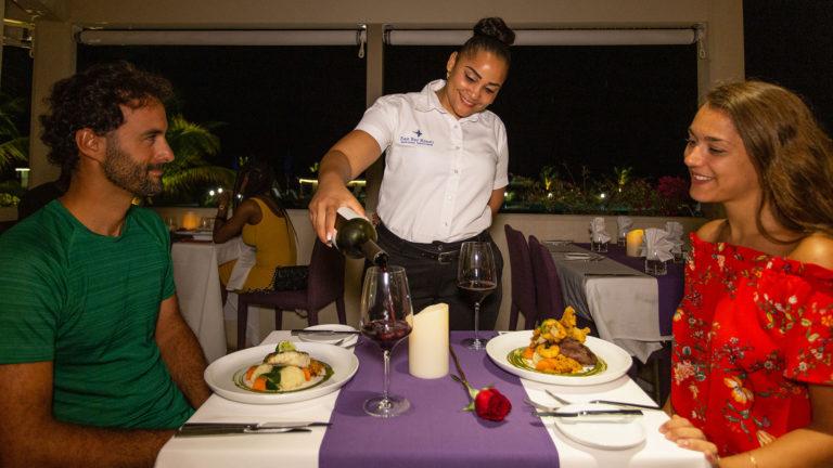 Gourmet Dining At BLU Bar And Grill At East Bay Resort