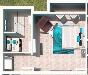Traditional Non Beachfront Floor Plan