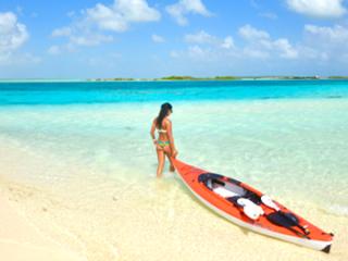Kayaking at East Bay Beach South Caicos, Turks and Caicos