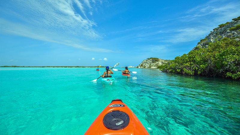 Kayaks at East Bay